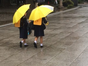 Tokyo, children, rain