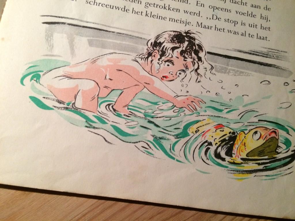 Uit De ontevreden vis, illustratie Jaap Pander