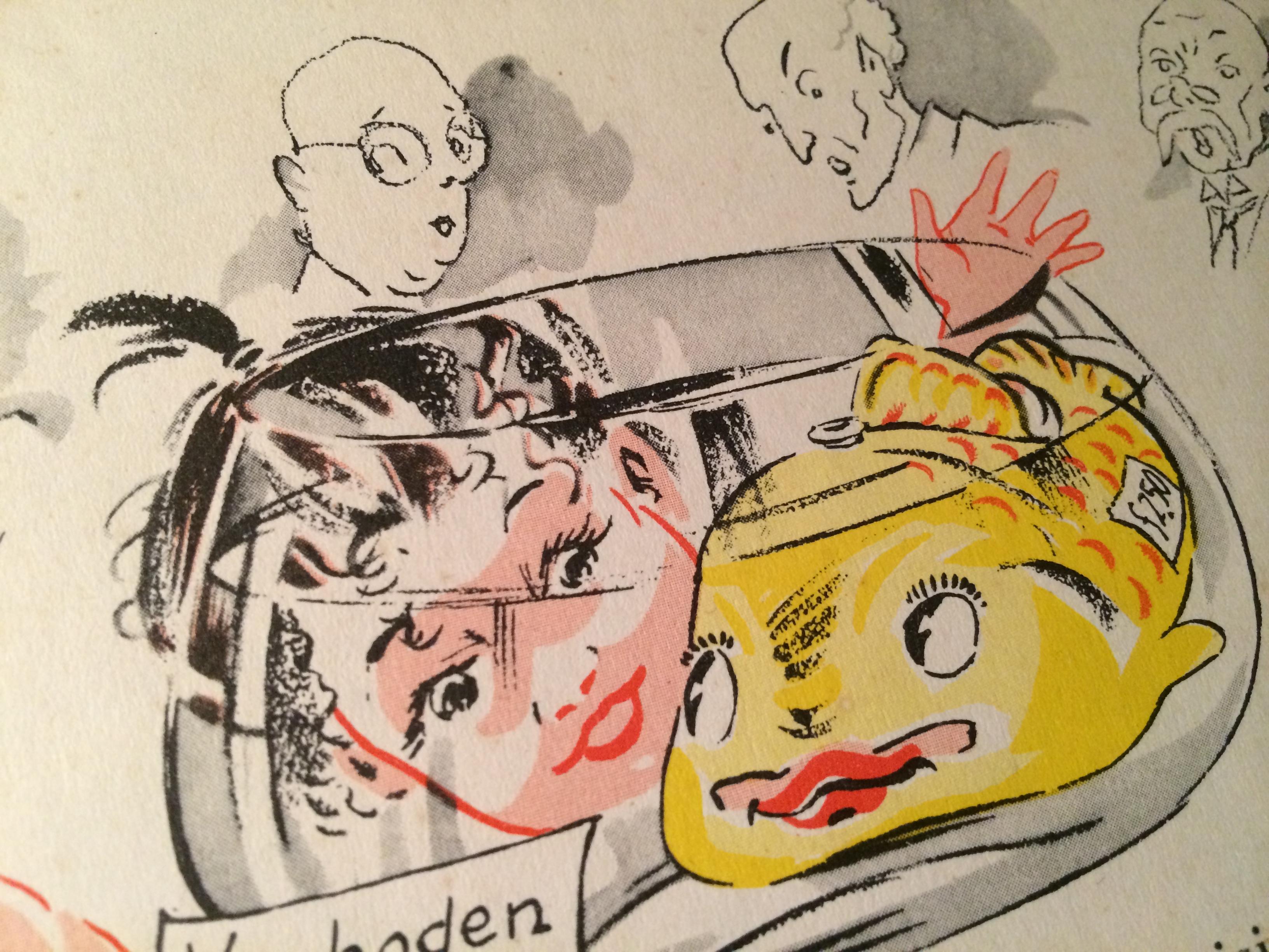 Uit de ontevreden vis, tekening Jaap Pander, verhaal Godfried Bomans