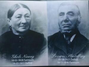 Lazarus Sleutelberg en zijn vrouw Ghole Nieweg.